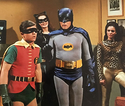 Catgirl scene from original Batman TV series