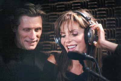 Wilk and Sharyn Wynters in Studio